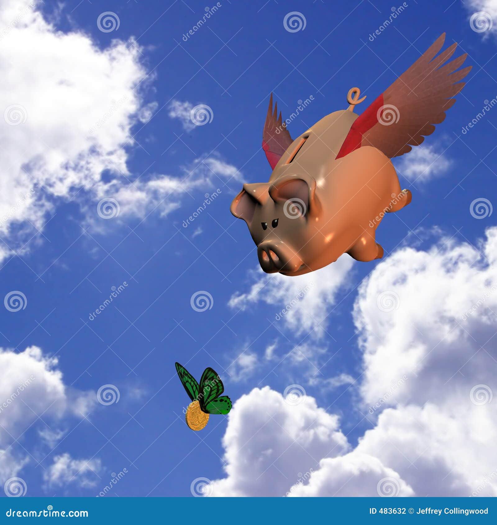 Swooping банка piggy
