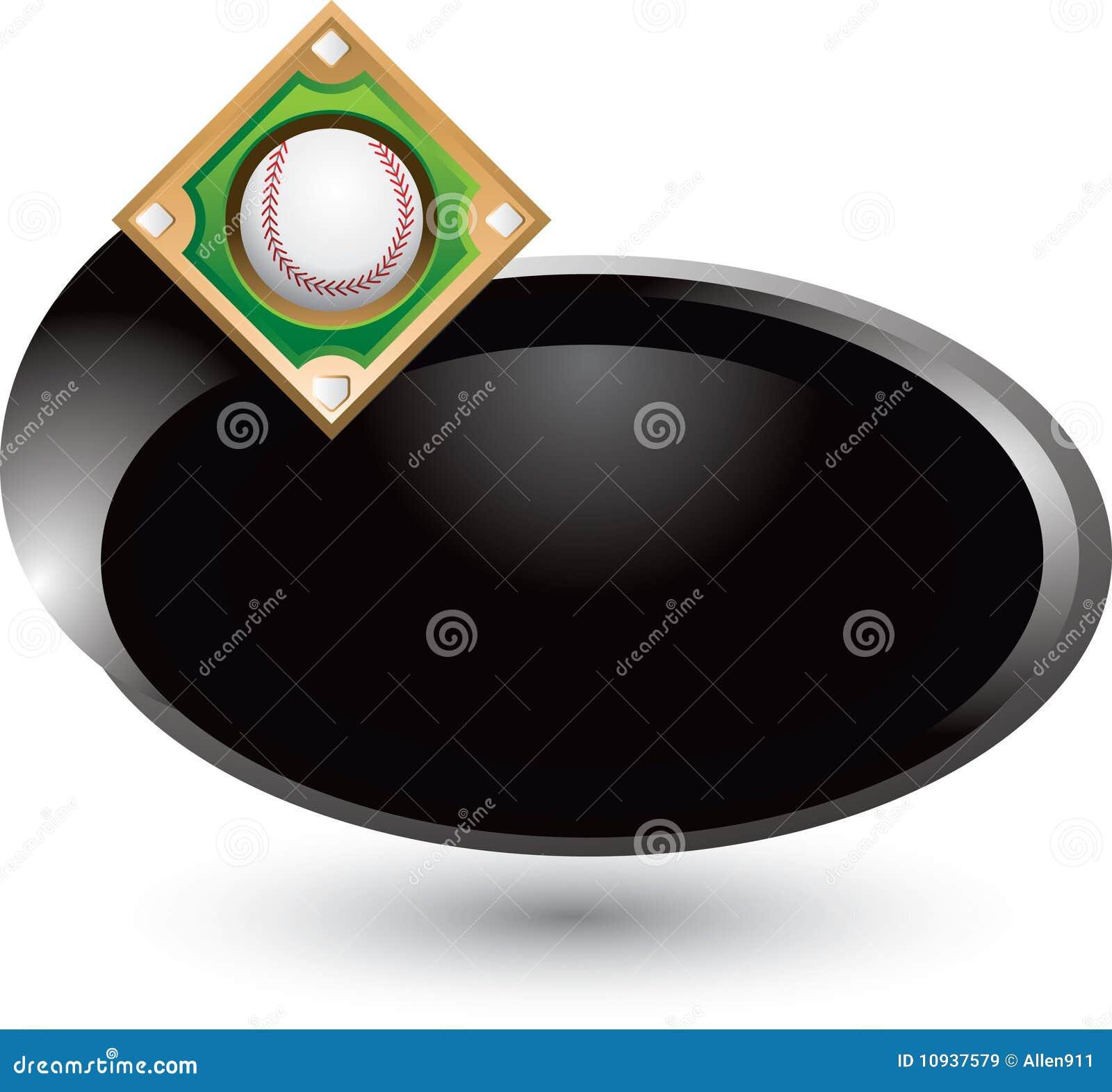 Swoosh серебра иконы диаманта бейсбола