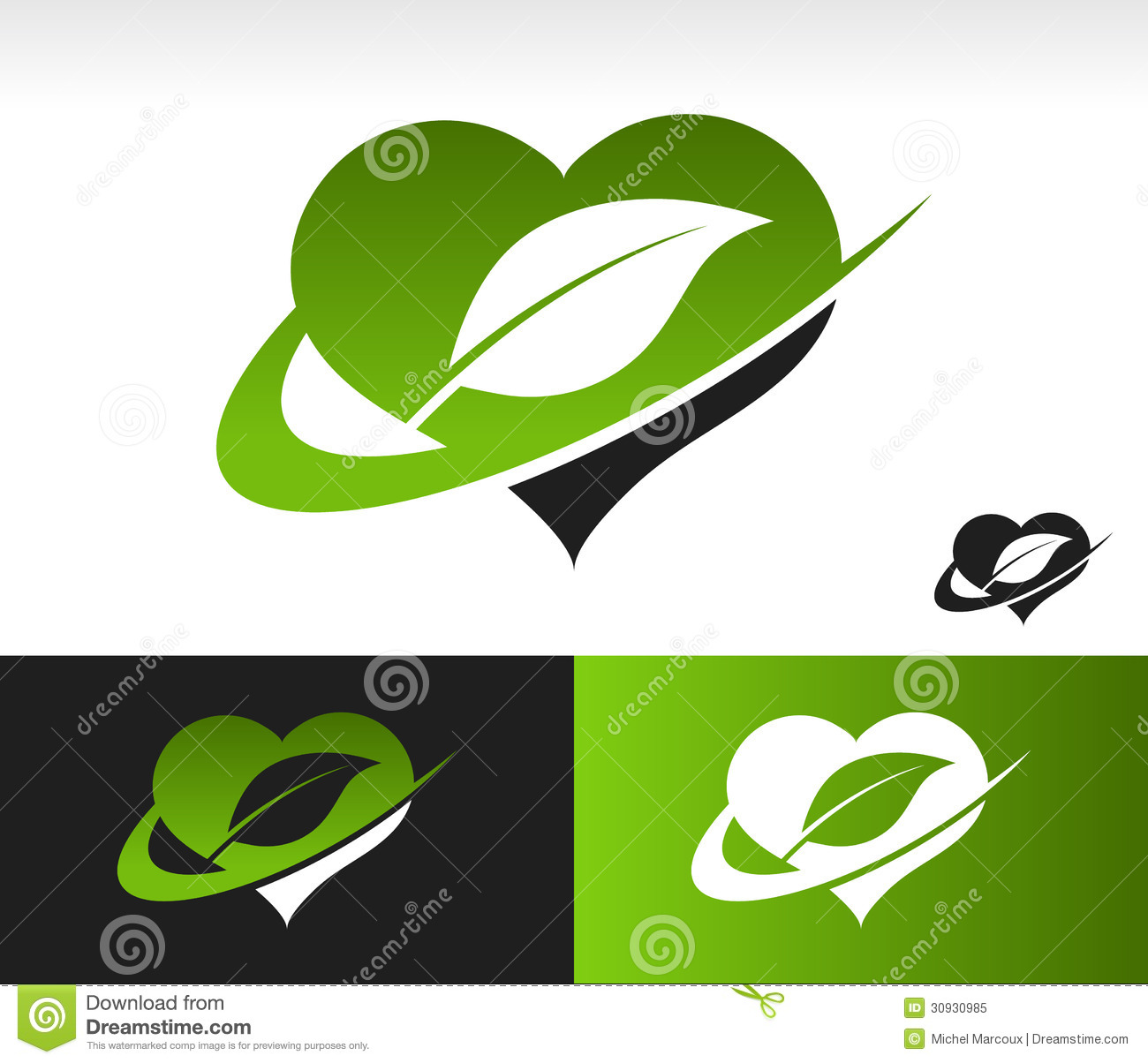 Swoosh green heart with leaf symbol stock image image of friendly royalty free stock photo biocorpaavc Gallery