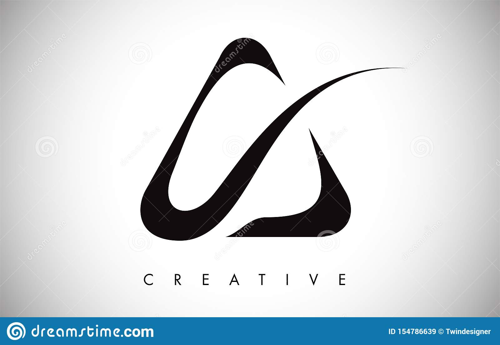 A swoosh Letter Modern Trendy Design Logo. Letter A Icon Logo with Modern swoosh