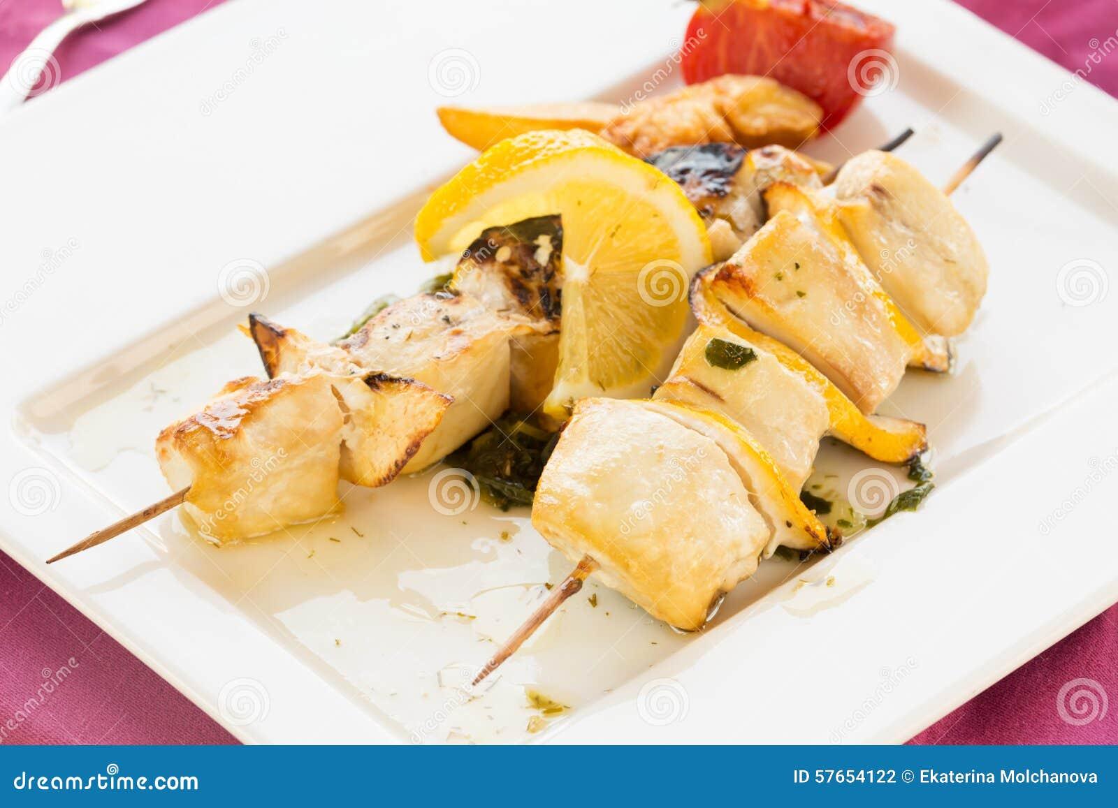 Swordfish na skewer
