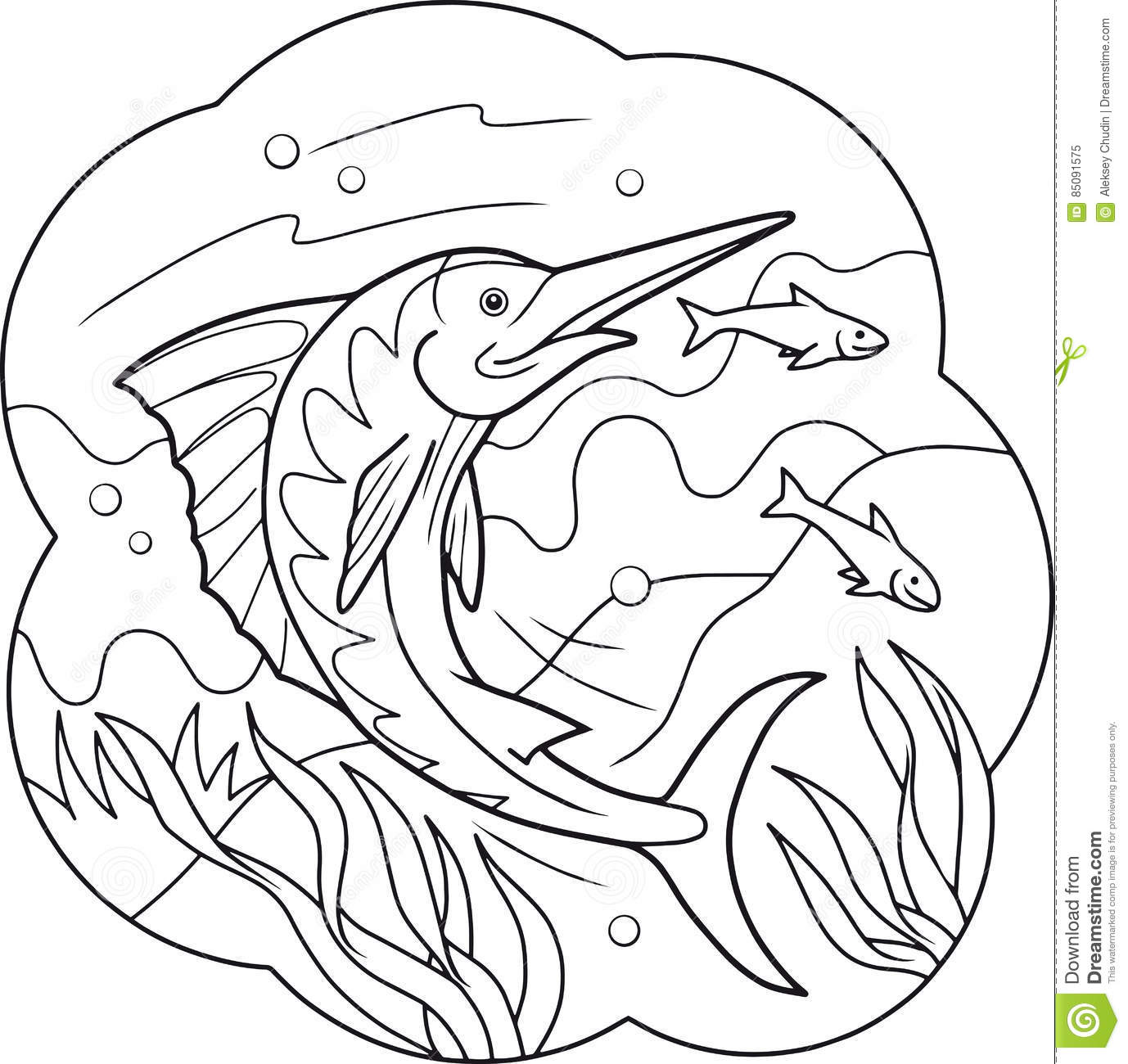 Swordfish Coloring Pages - Learny Kids