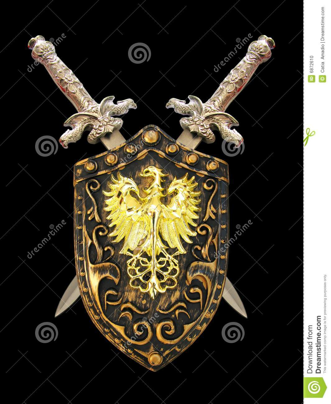 swords and shield stock photo image 6872610