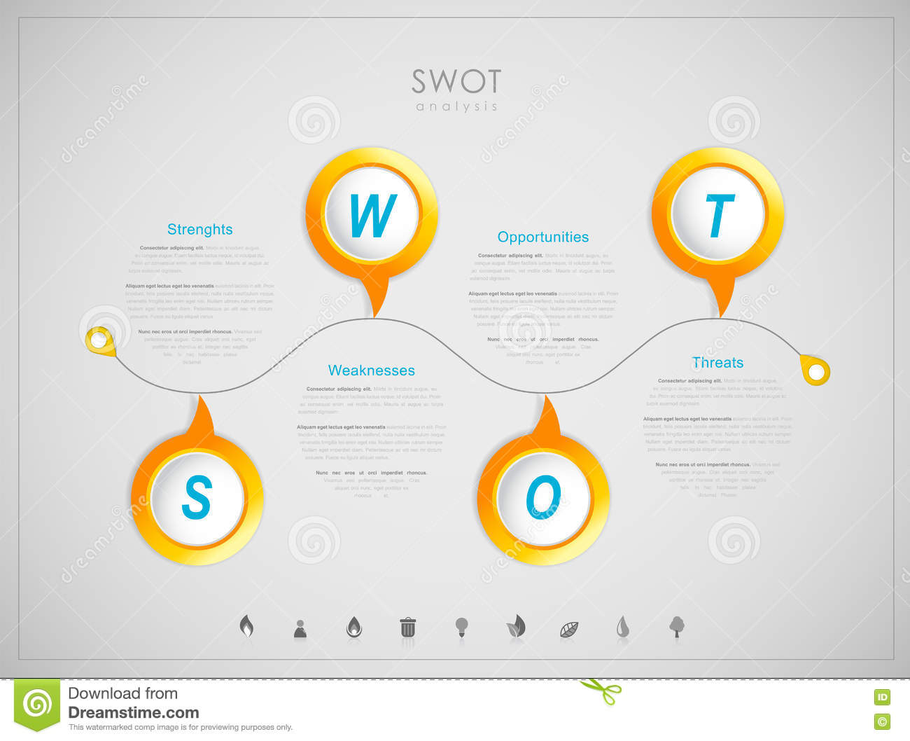 swot strengths weaknesses opportunities threats stock vector swot strengths weaknesses opportunities threats