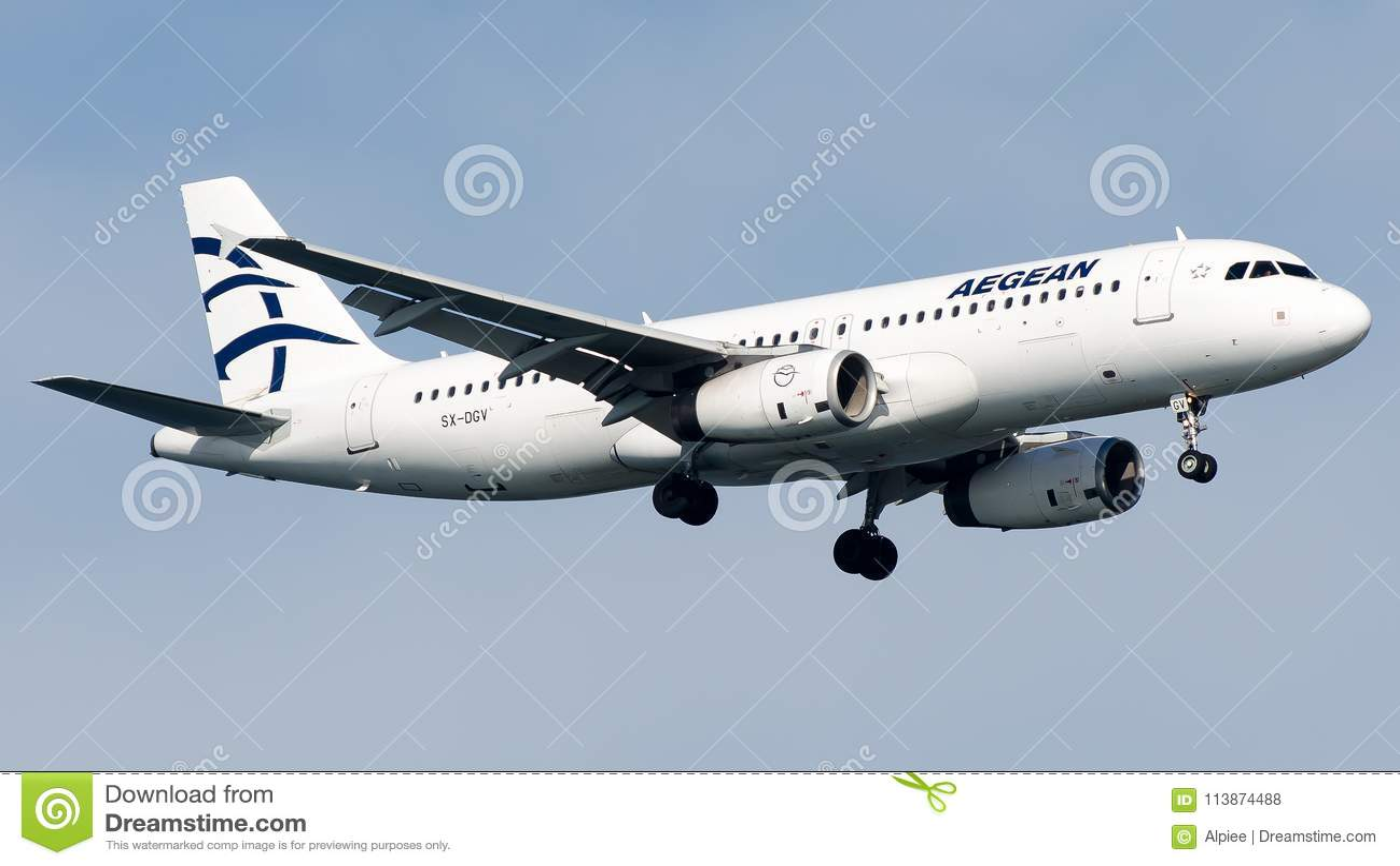 SX-DGV Aegean Airlines, Airbus A320-200