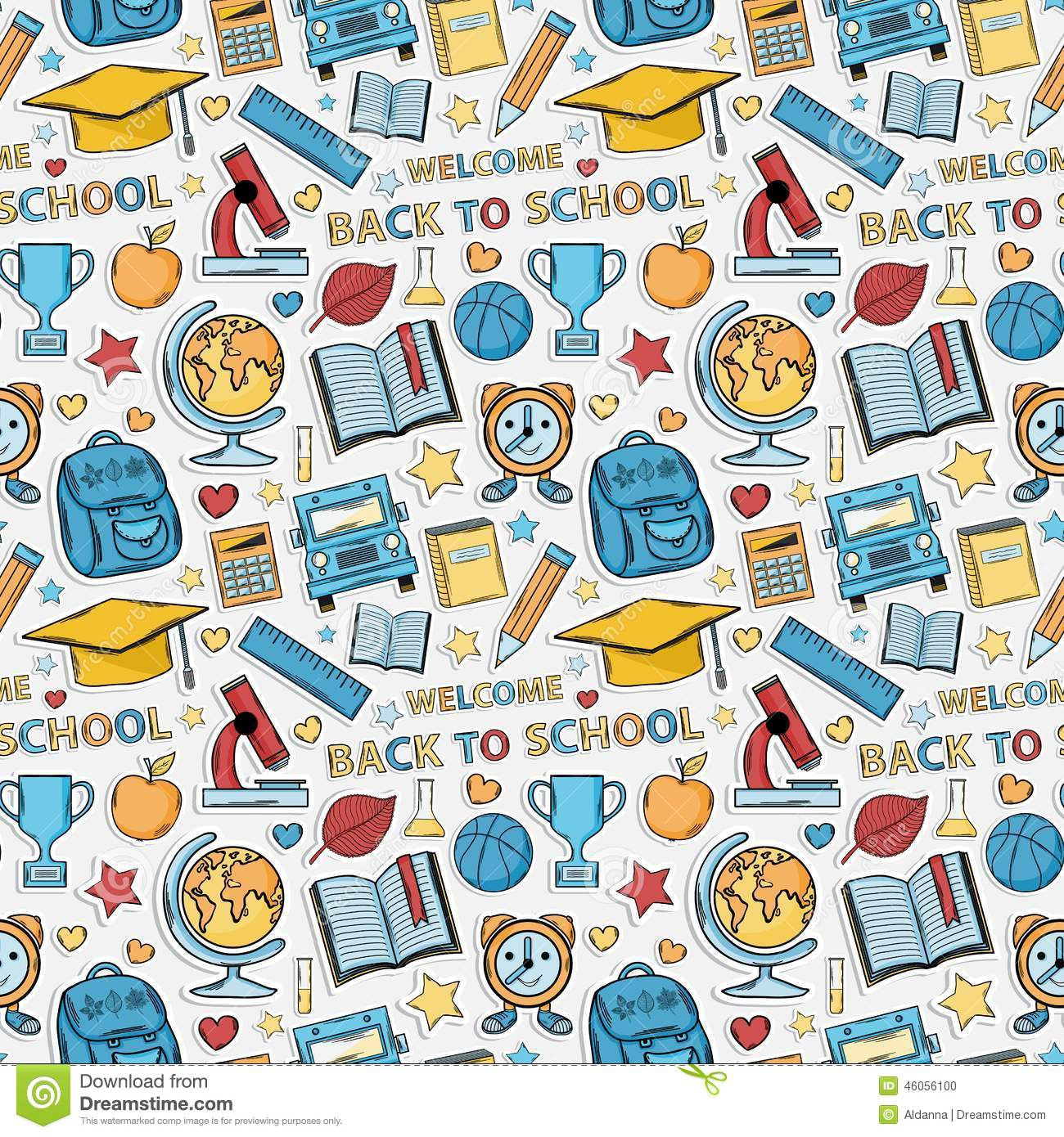 Red Backpack Sticker With Shadow Cartoon Vector ...