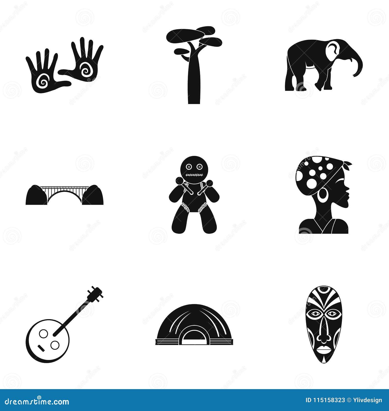 Sydafrika symbolsuppsättning, enkel stil