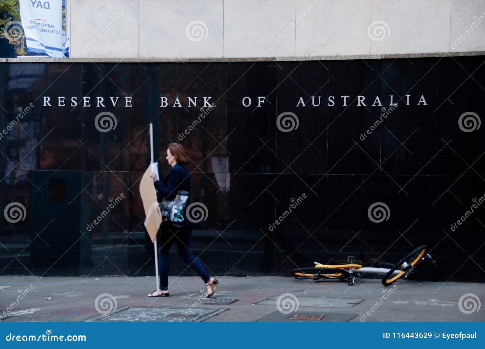 SYDNEY, AUSTRÁLIA - 5 DE MAIO DE 2018: Reserve Bank da construção de Austrália