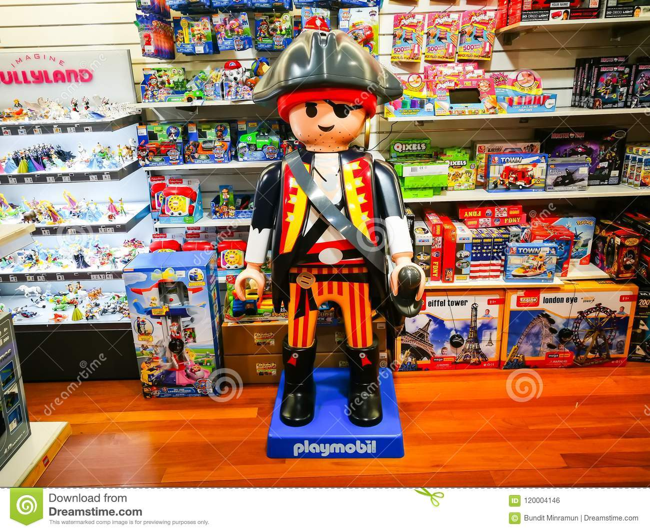 Playmobil In Big Size With Pirate Version Display At Toy Retail