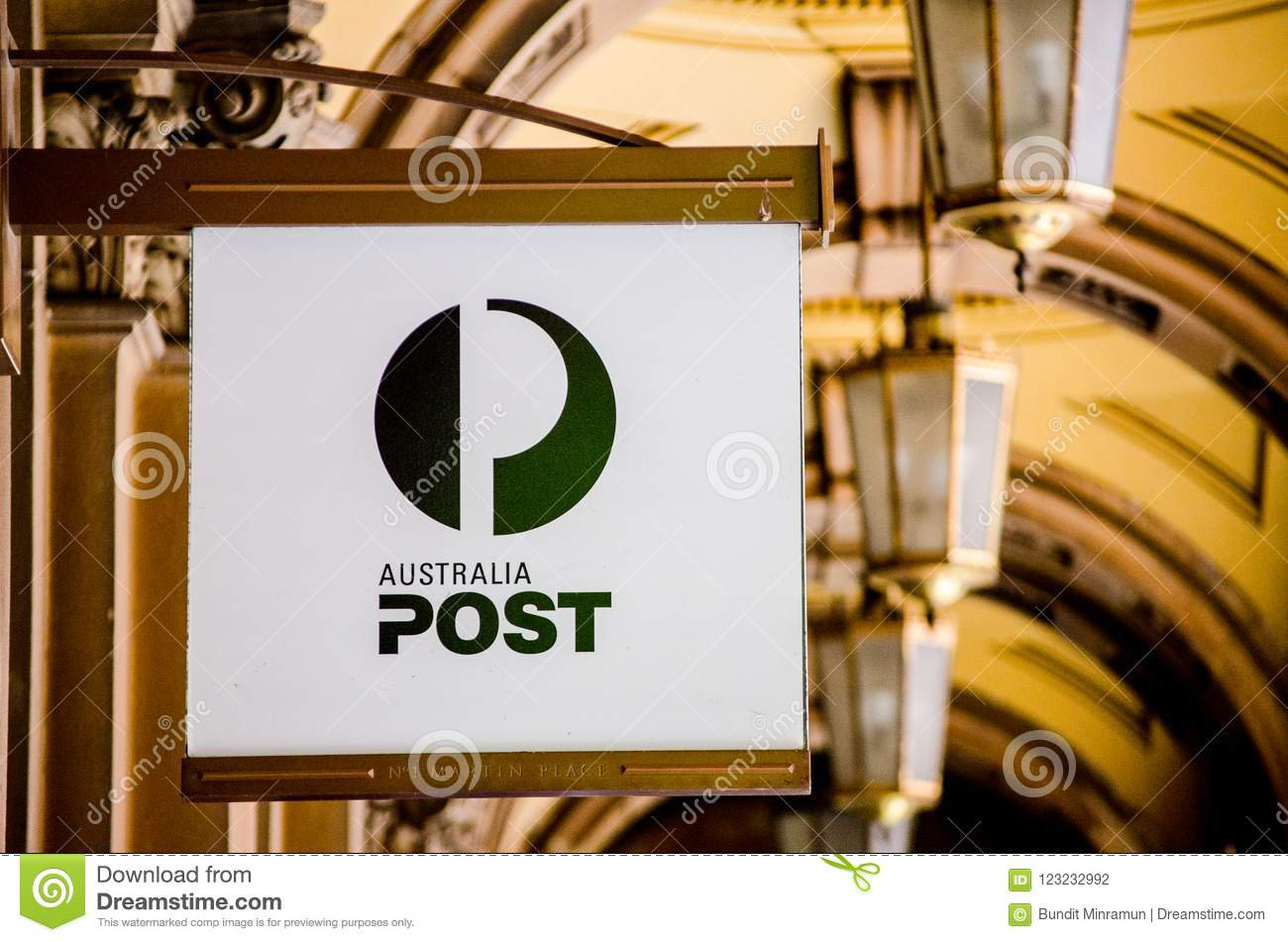 Classic Australian Post Logo In Black And White Color At In
