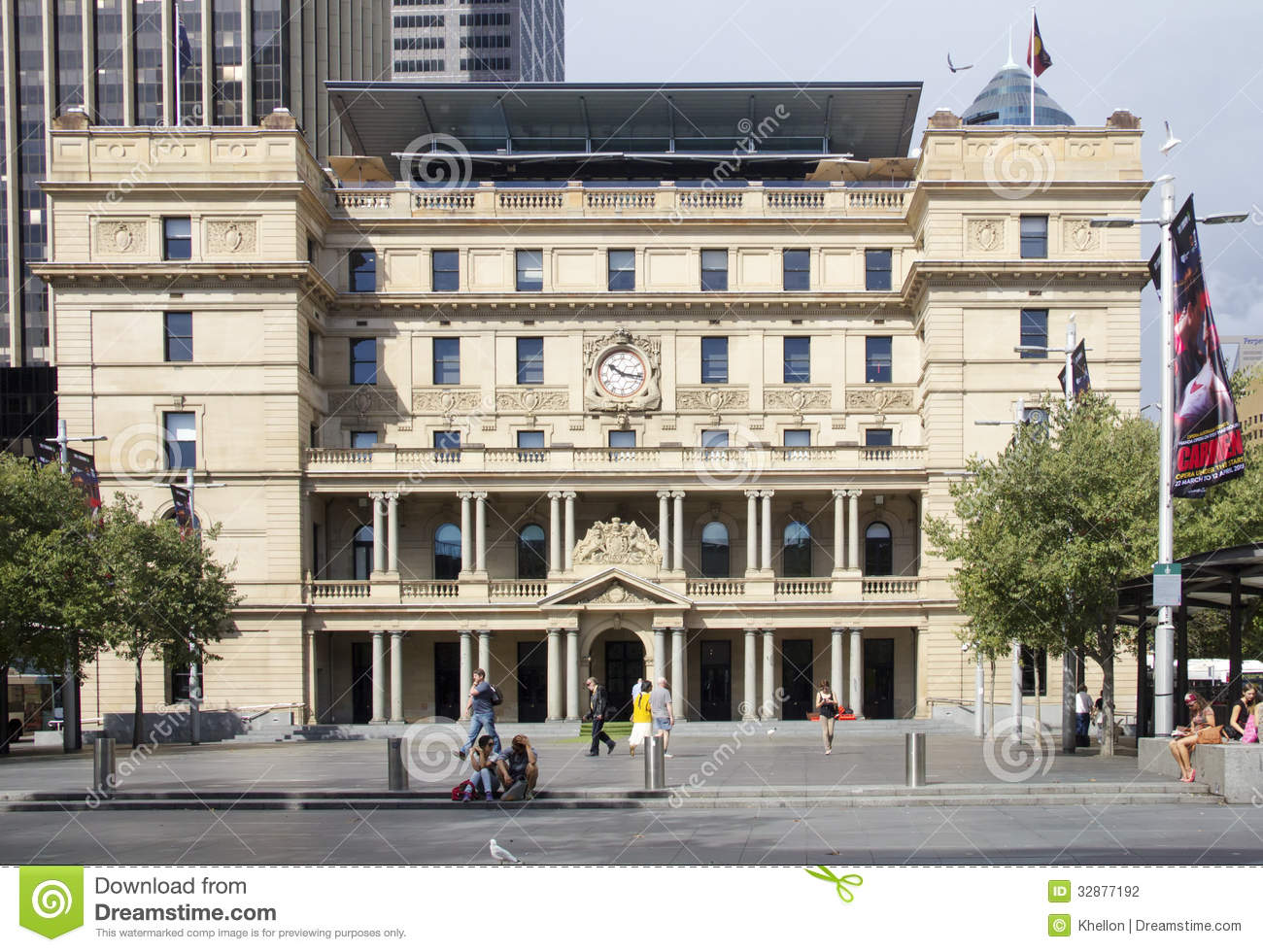 Sydney australia april 7th the customs house building on april editorial photography