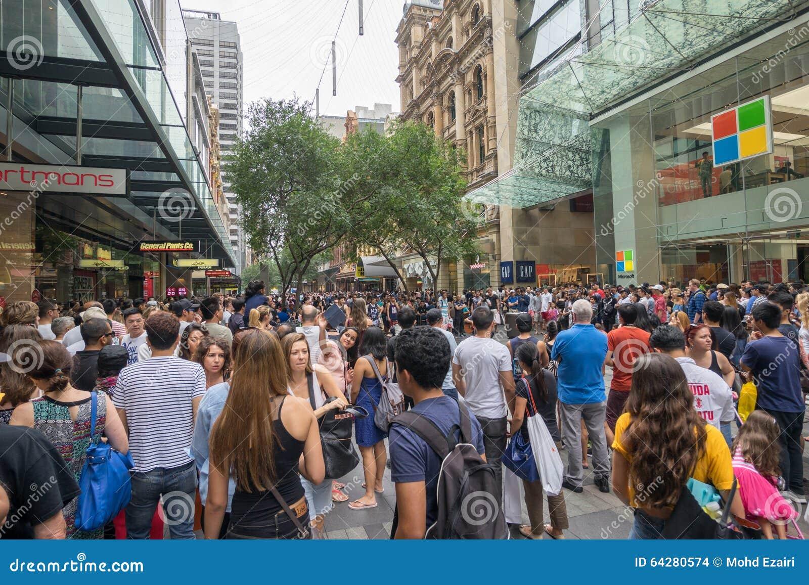 sydney australia december 26 2015 croud of people at the fa