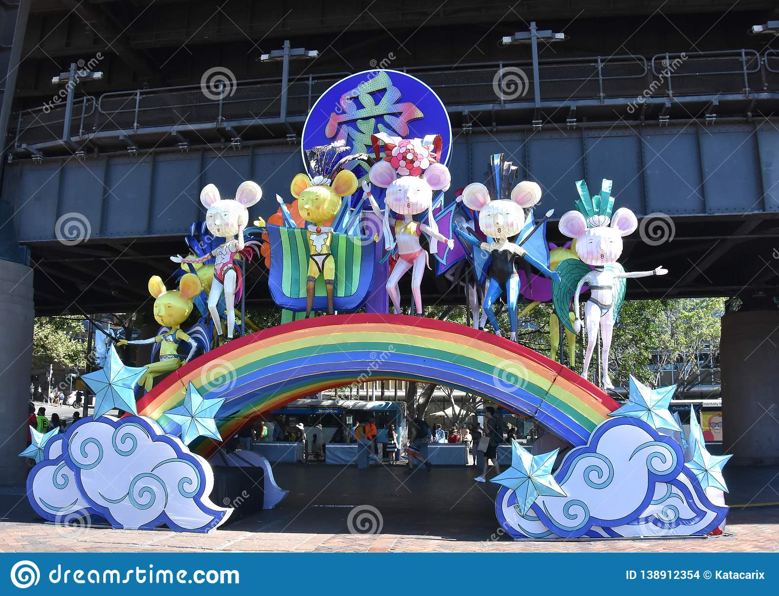 Larger than life lanterns in the shape of Chinese zodiac animals at Circular Quay