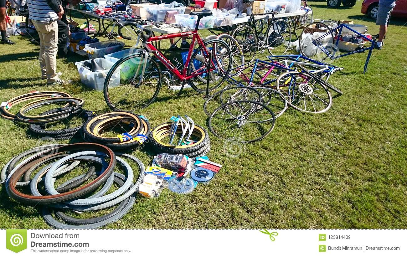 Bicycle Spare Parts For Sale At Canterbury Velodrome In The Annual