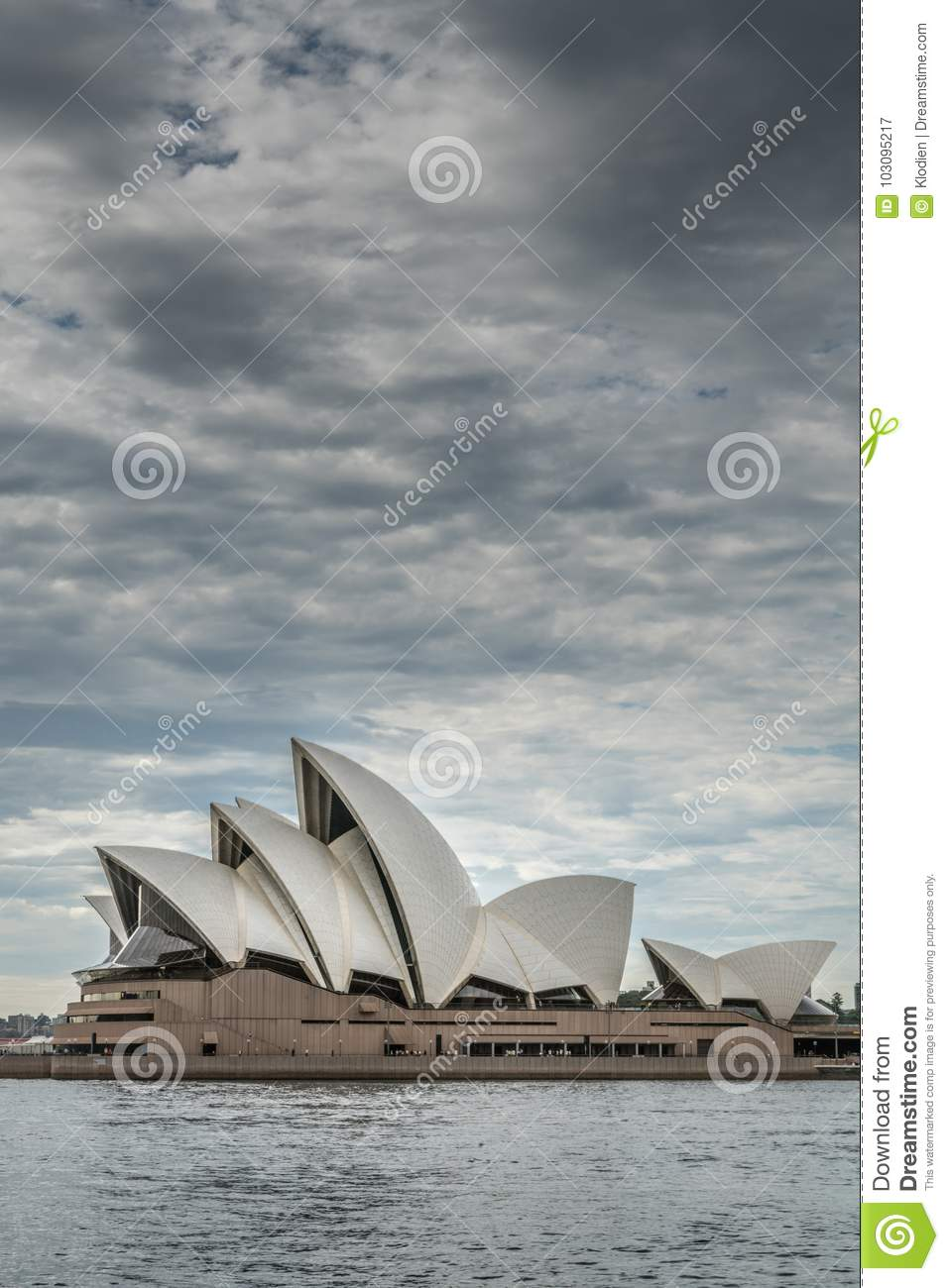 Opera House And Under Heavy Cloudscape, Sydney Australia  Editorial