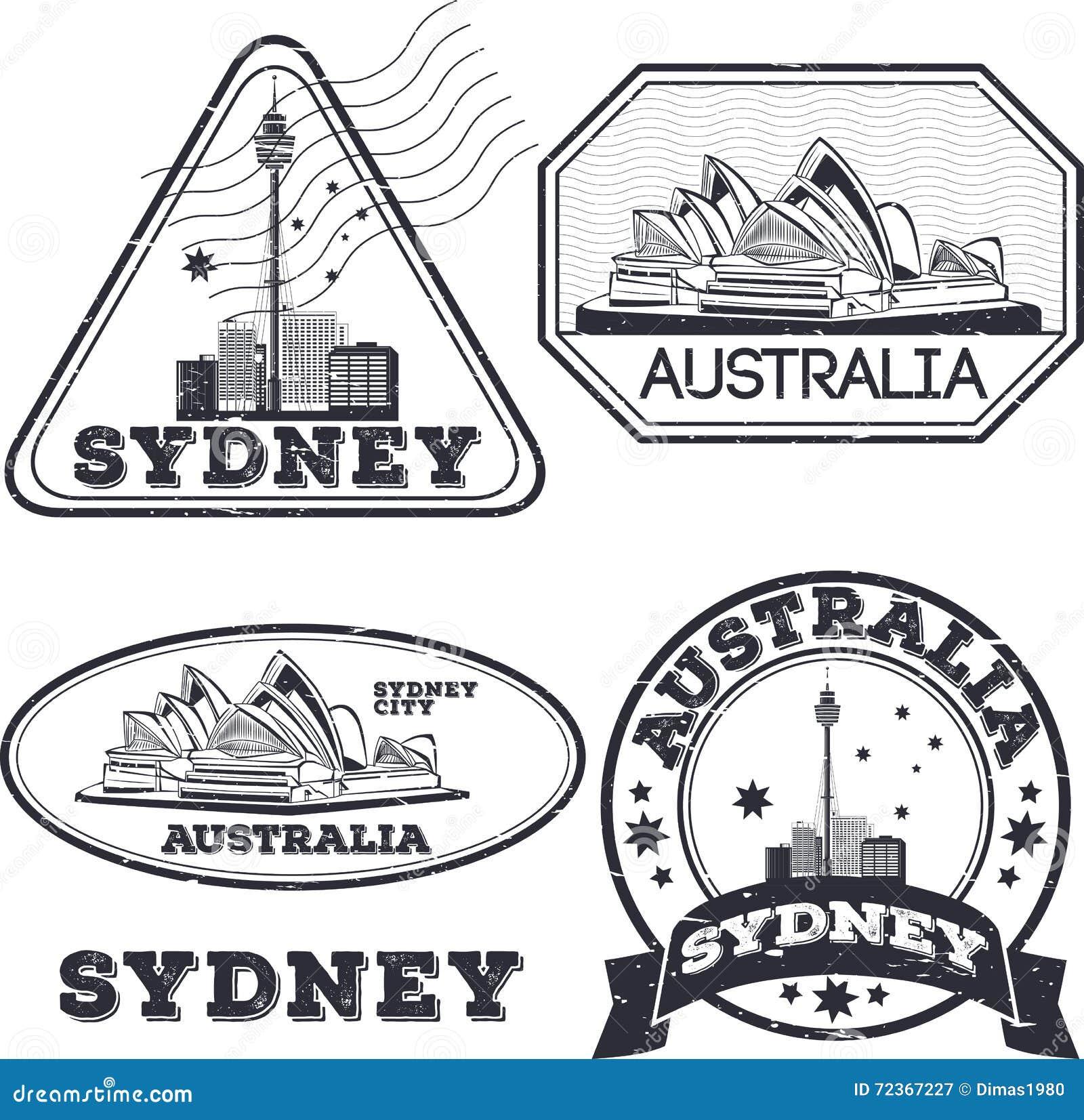 City Stamps Collection Cartoon Vector Cartoondealer Com