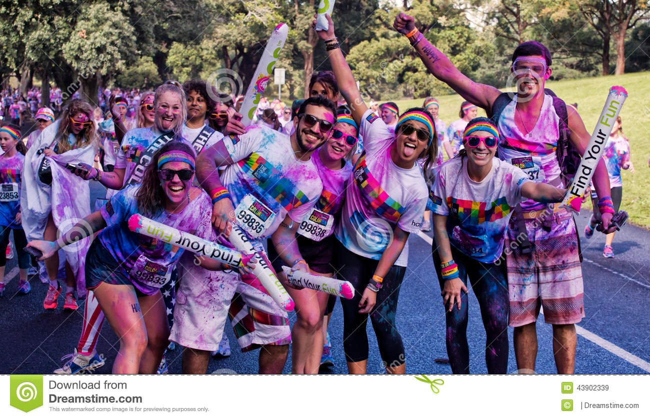 The Color Run is an exciting marathon event that involves a colorful rainbow. Imagine running mile after mile surrounded by other enthusiastic marathoners, completely covered in a rainbow of beautiful (and safe) powdered colors).