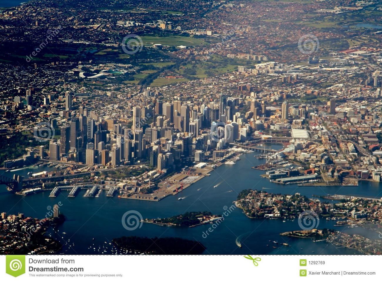 Sydney downtown stock image. Image of boat, aerial, airport - 1292769