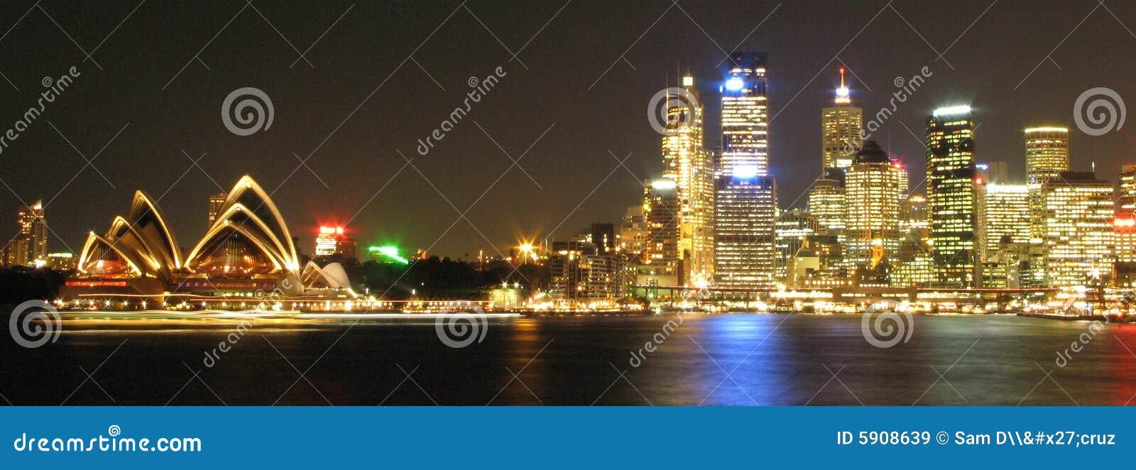 Sydney em a noite, Austrália