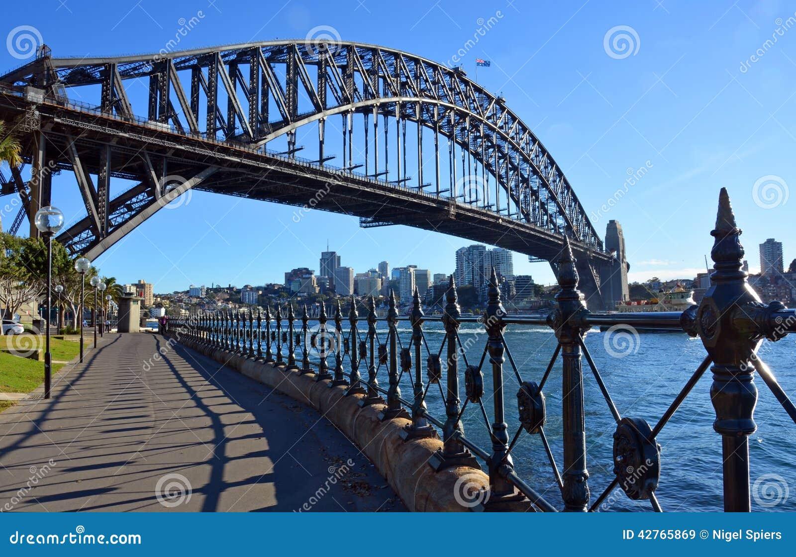 Sydney Harbour Bridge & Traliewerk van Dawes-Puntpark