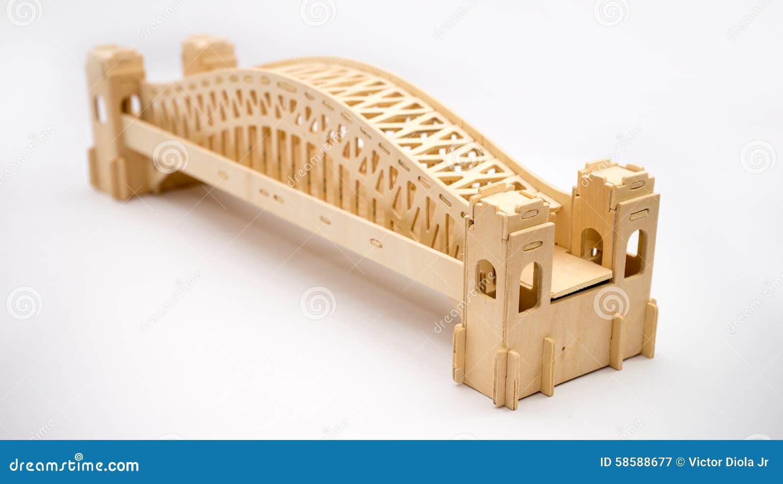 Sydney Harbour Bridge Woodcraft Model Stock Photo - Image ...