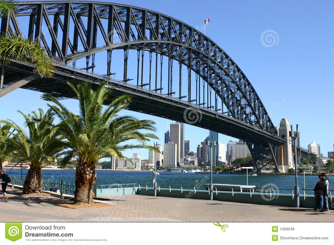 Download Sydney Harbour And Sydney Harbour Bridge Stock Image - Image of architecture, bridge: 1309549