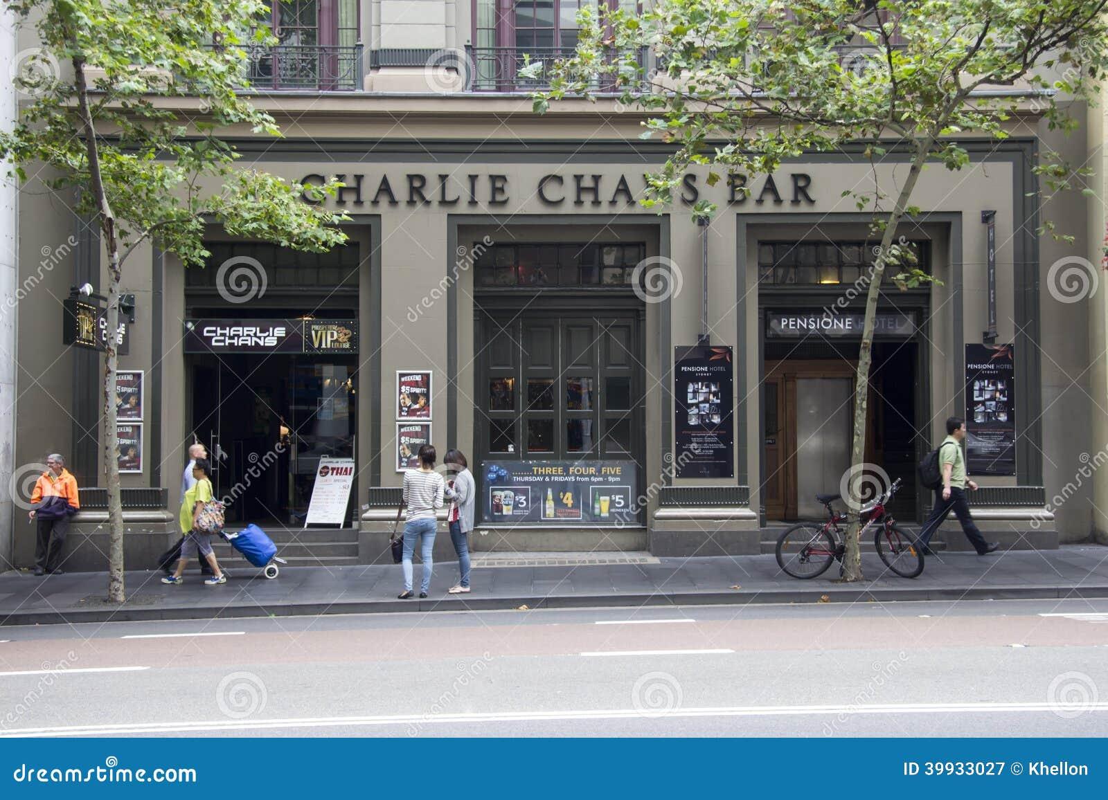 Sydney, marzec 15th 2013: Charlie Chan bar na George