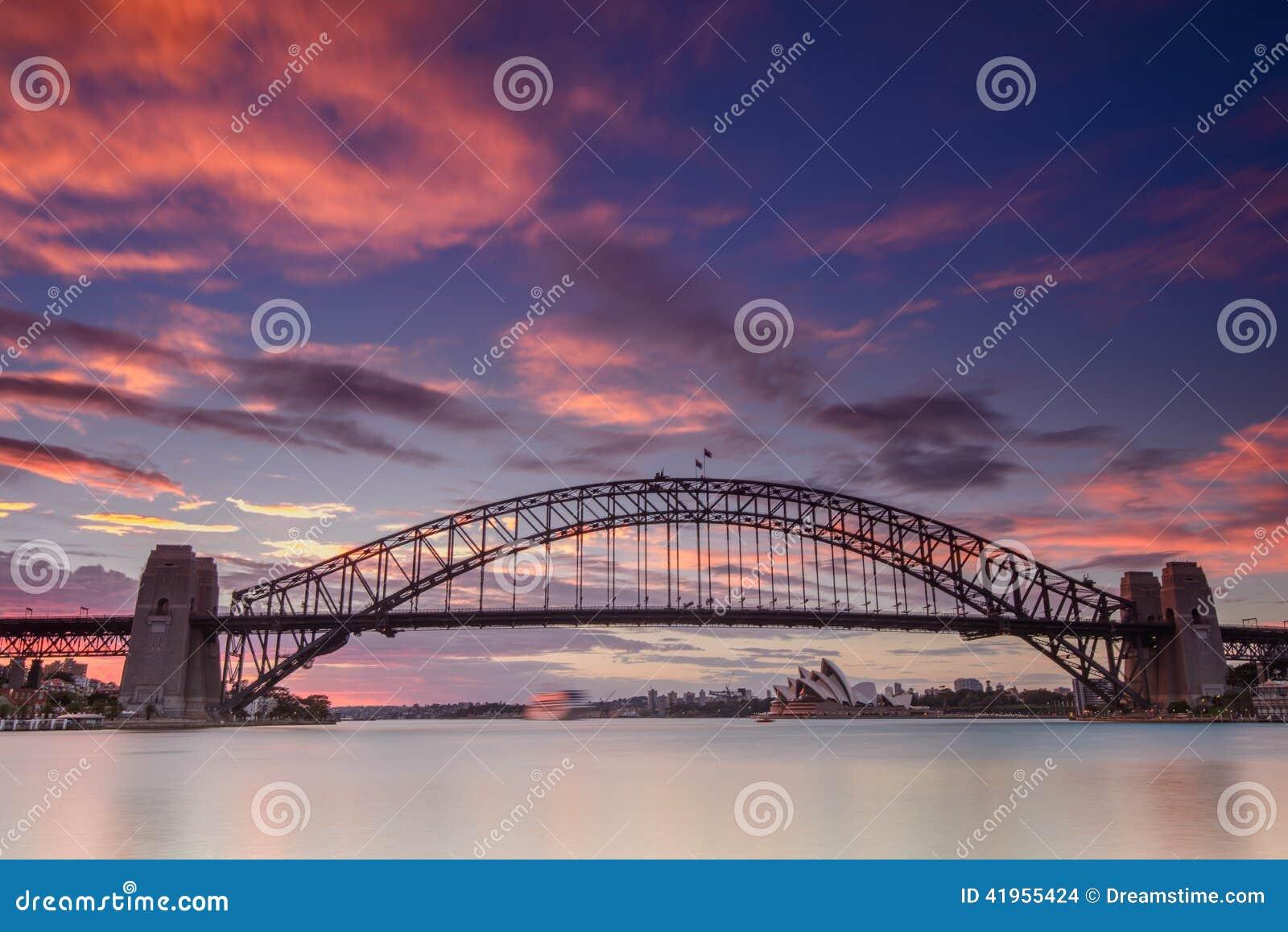 Sydney miasta schronienie i mosta pejzaż miejski panoramiczny