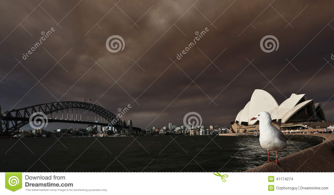 sydney opera house australia october harbour overlooking fire storm blew smoke storm front 41174274 - 11+ Sydney Opera House Fire Pictures  Gif