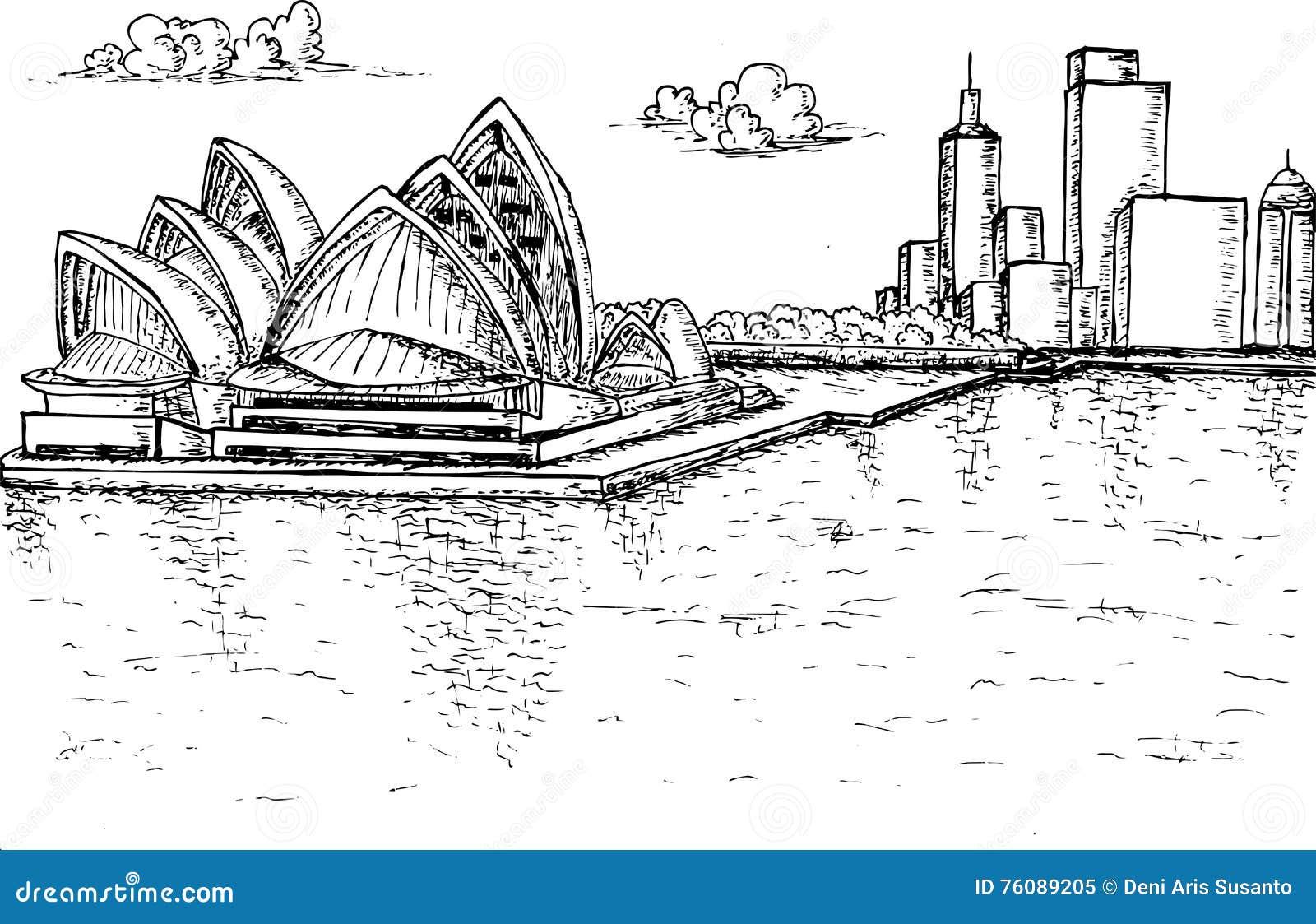 Sydney Opera House Hand dessiné