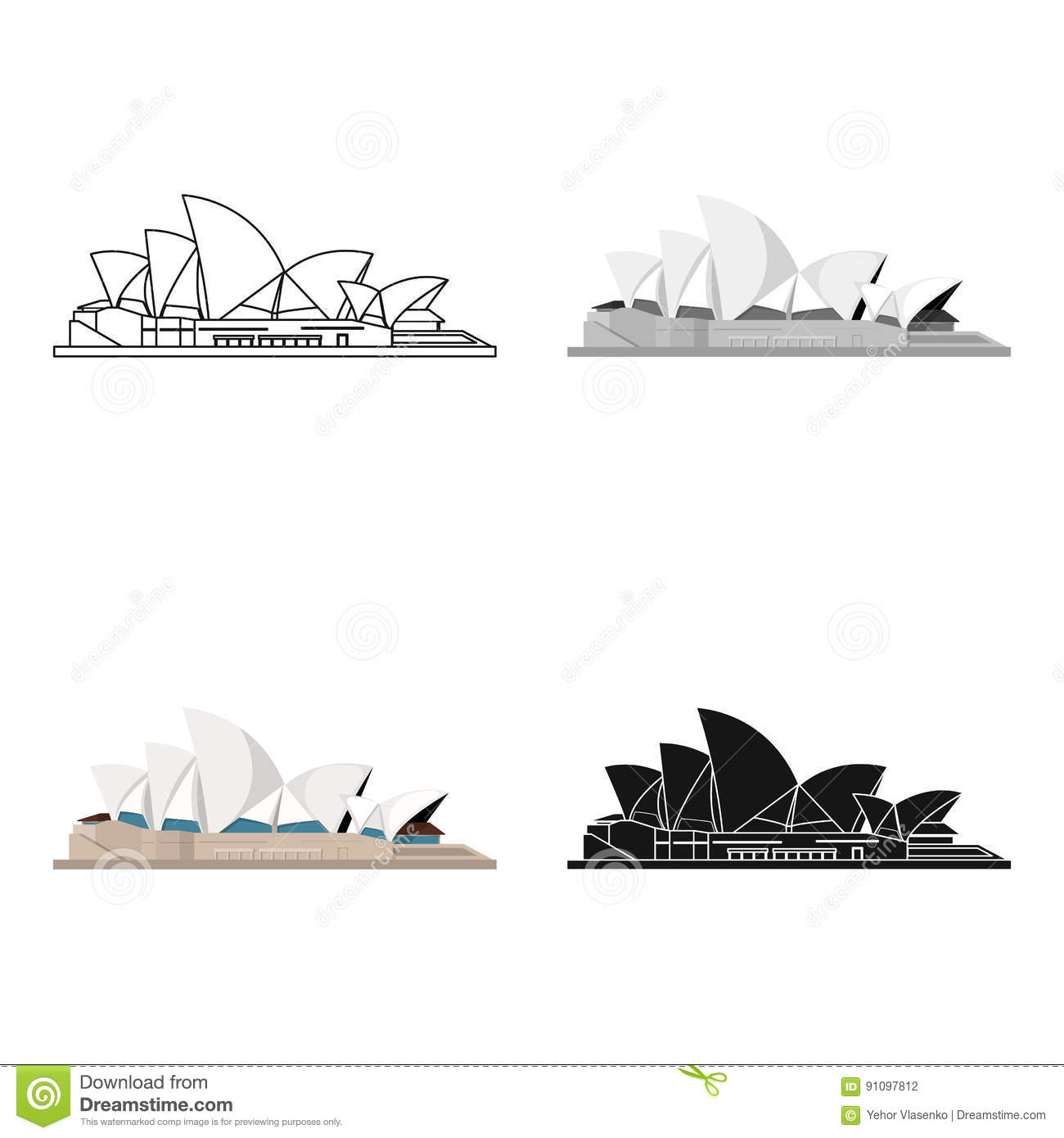 sydney opera house icon cartoon style isolated white background countries symbol stock vector illustration design 91097812 - Get Vector Images Of Sydney Opera House  Pictures