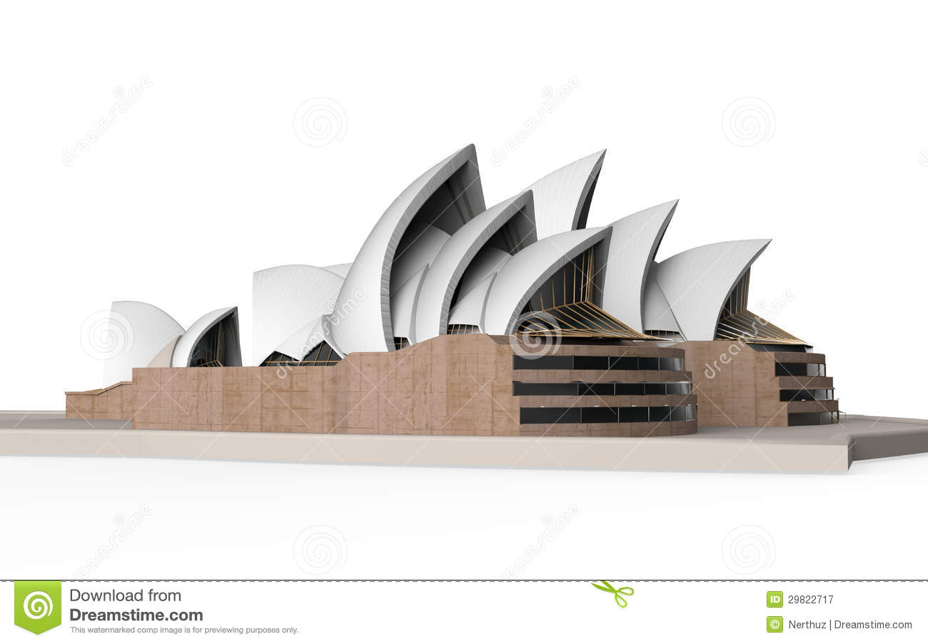 sydney opera house isolated on white background editorial