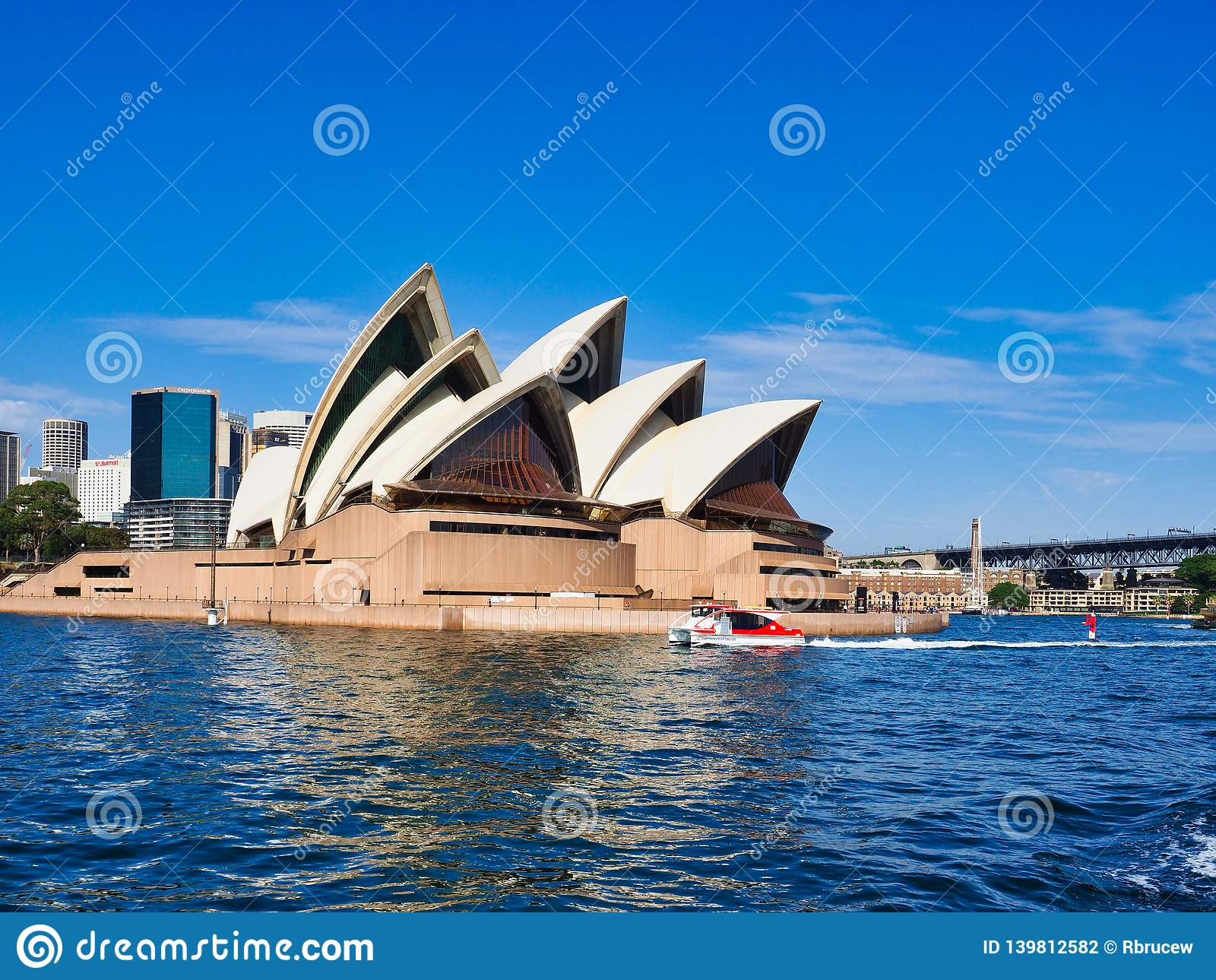 Sydney Opera House, View From Harbour Ferry, Australia Editorial