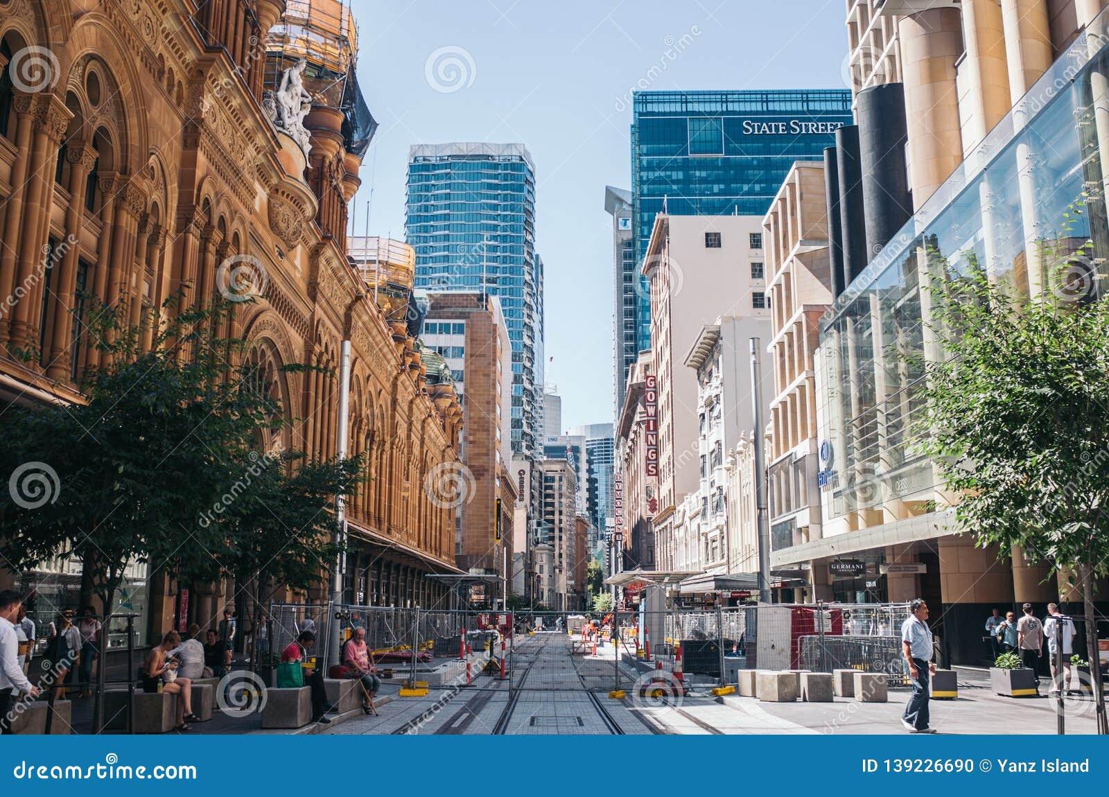Sydney Pitt St Mall