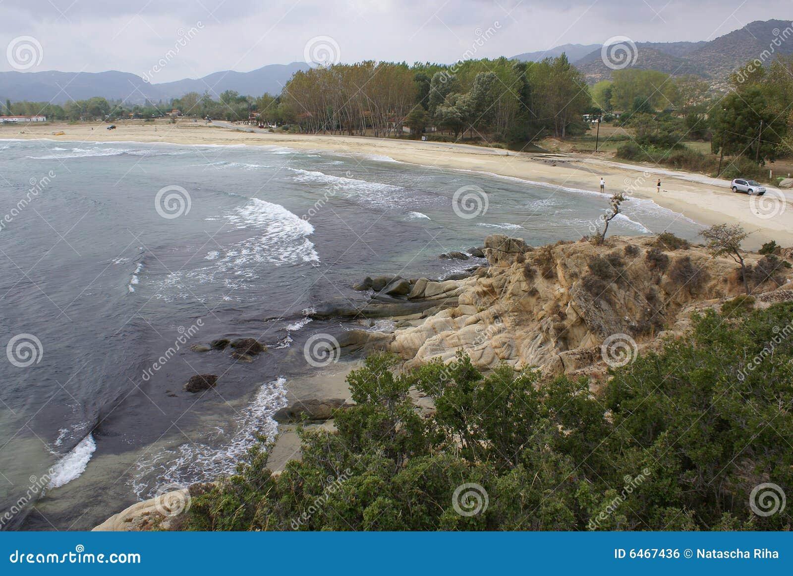 Sykia na plaży