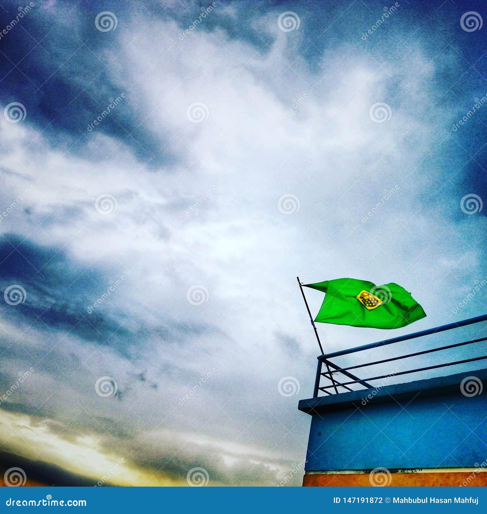 Sylhet Бангладеш вентиляторов Бразилии дождливый
