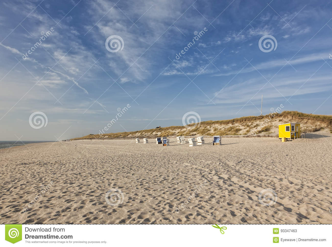 Download Sylt North Sea beach stock image. Image of chair, sylt - 93347463