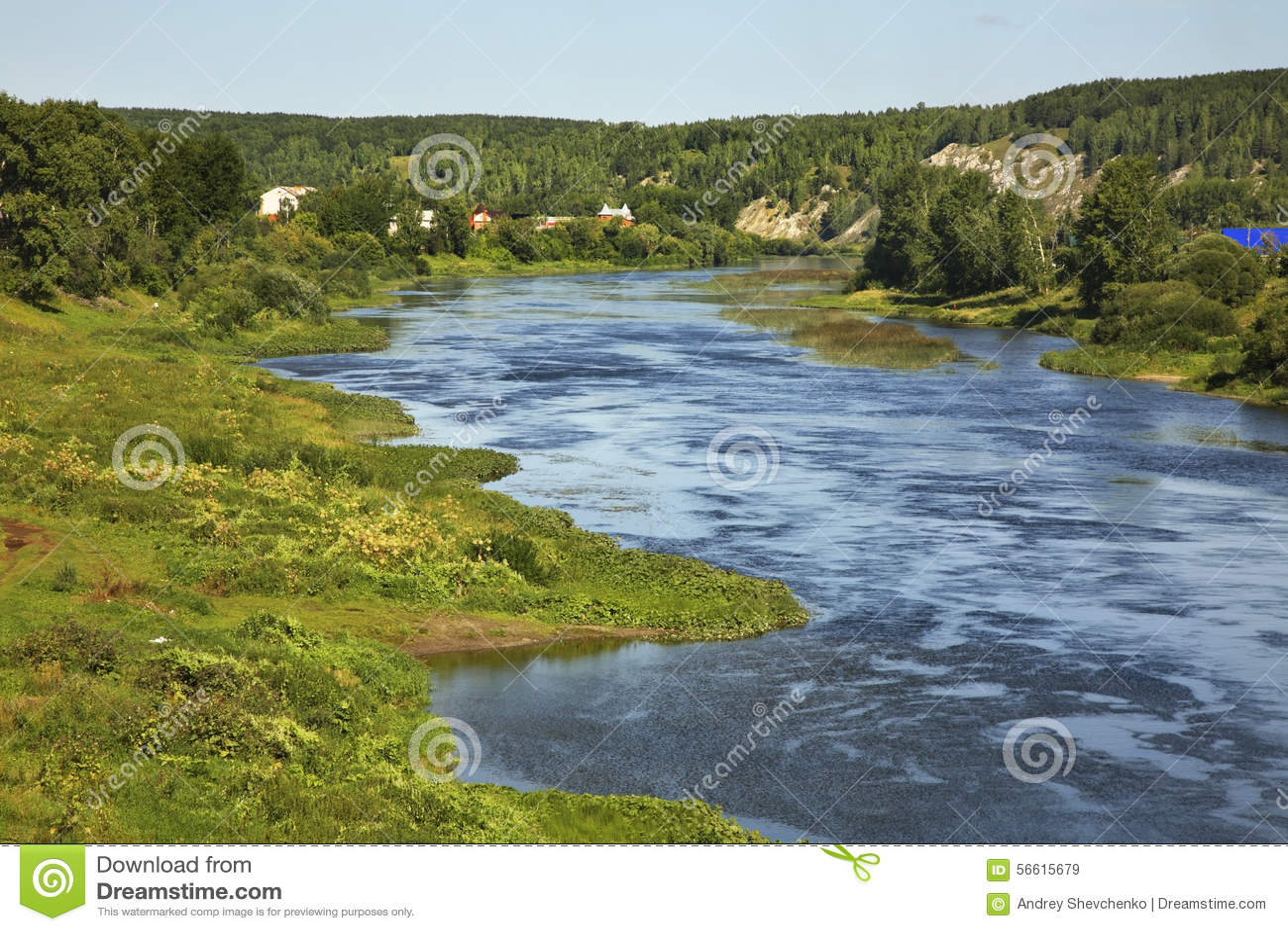 Sylvafluß in Kungur Perm Krai Russland