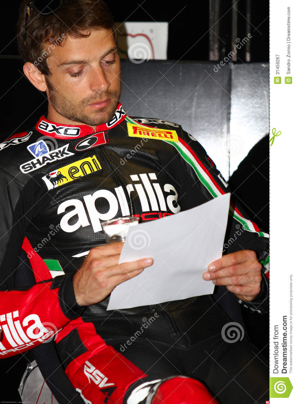 Sylvain Guintoli #50 on Aprilia RSV4 1000 Factory with Aprilia Racing Team Superbike WSBK