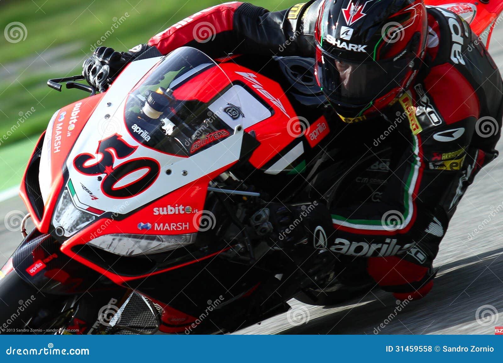 Sylvain Guintoli #50 on Aprilia RSV4 1000 Factory with Aprilia Racing Team Superbike WSBK