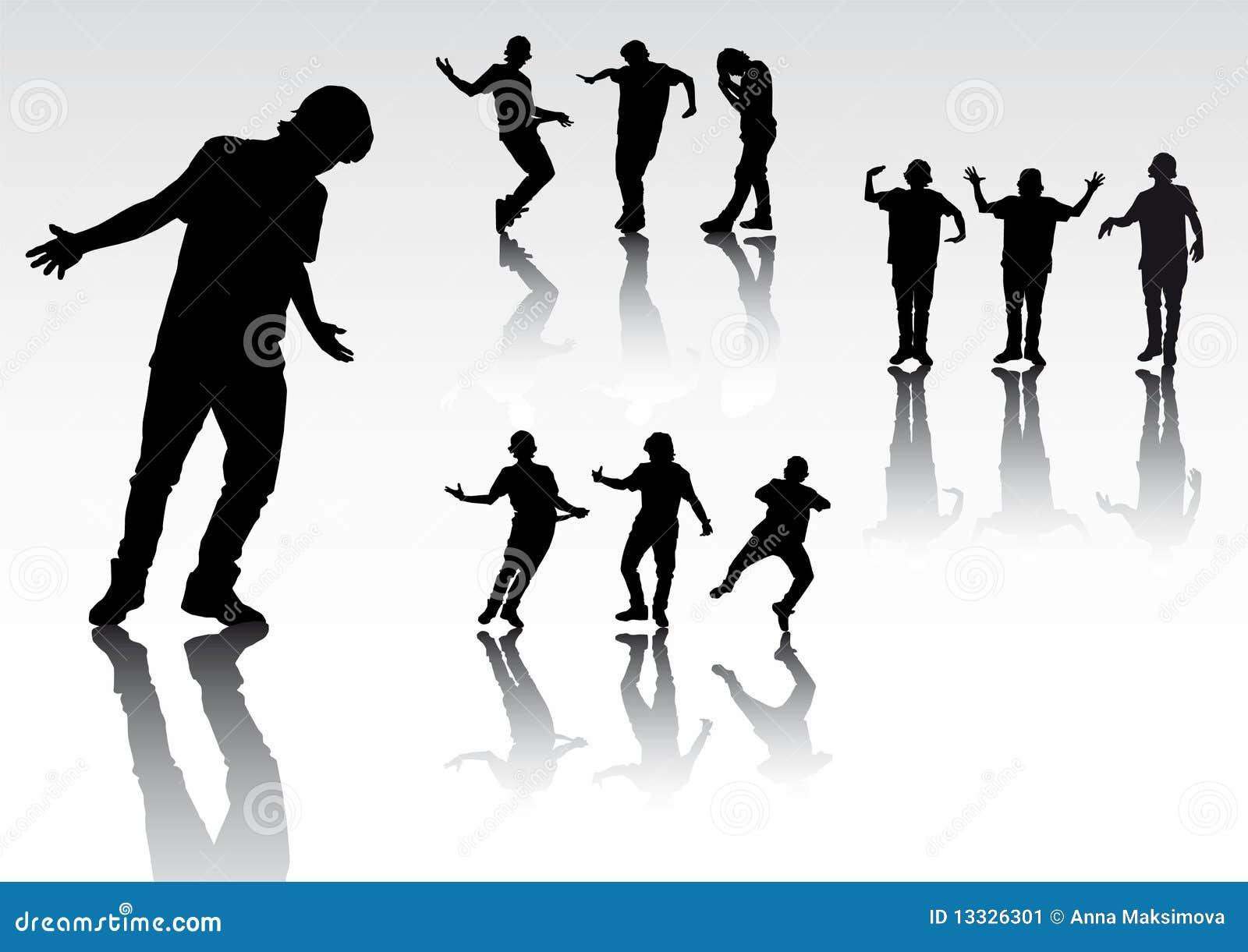 Sylwetek dancingowi ludzie