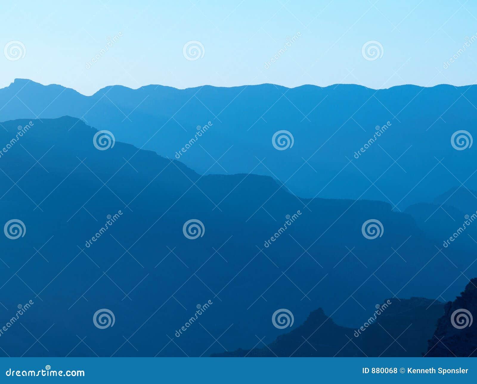 Sylwetka grand canyon niebieskiego