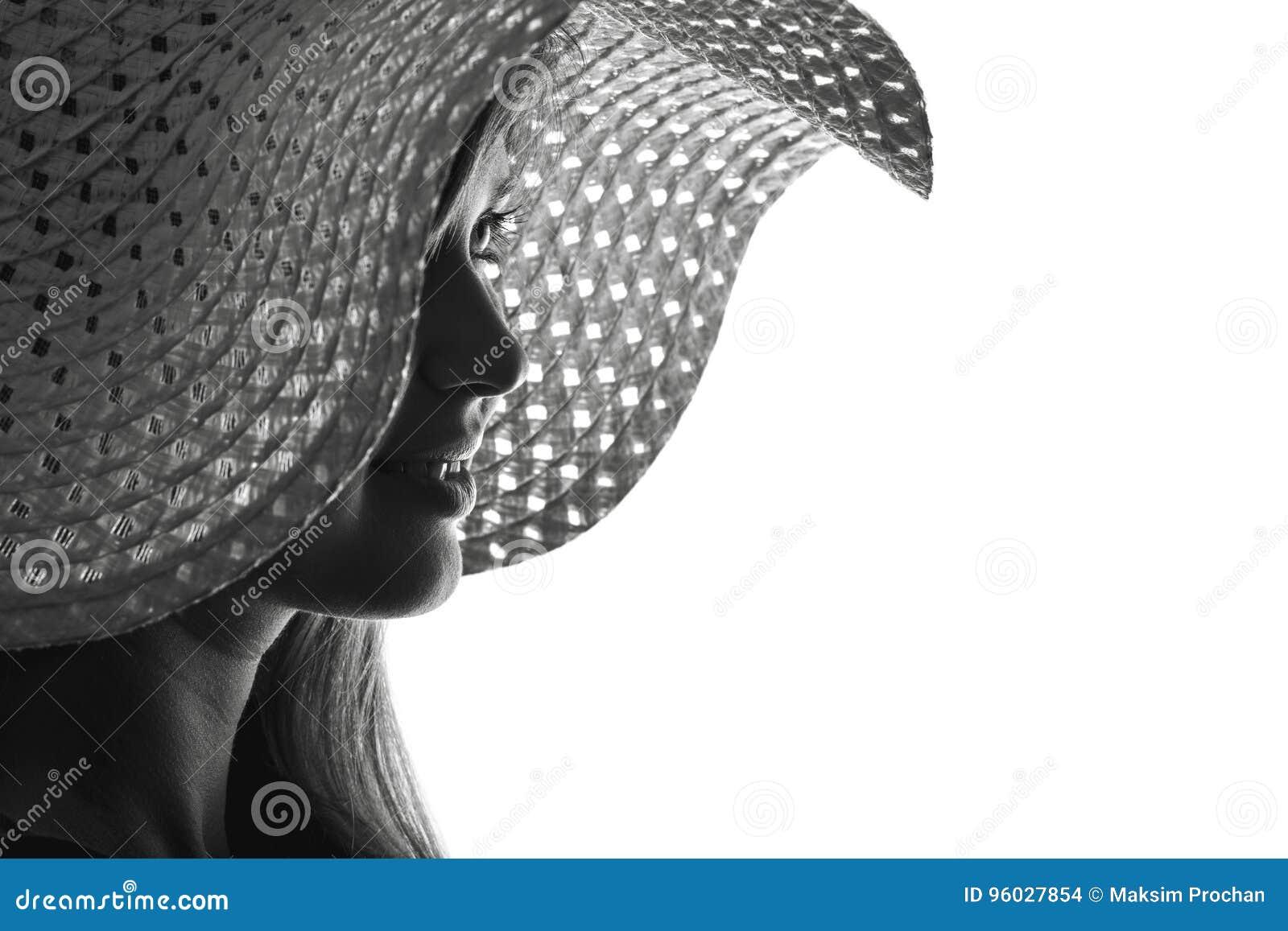 Sylwetka kobieta w kapeluszu
