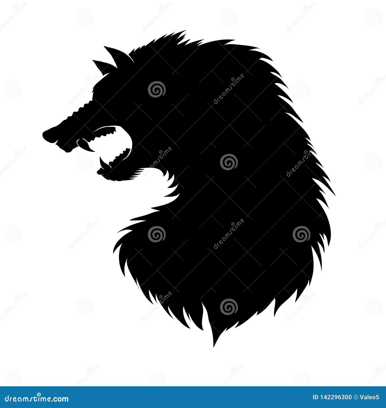 Sylwetka wilkołak głowa Fairtale charakter Antyczna mitologia Powieściowy zwierzę