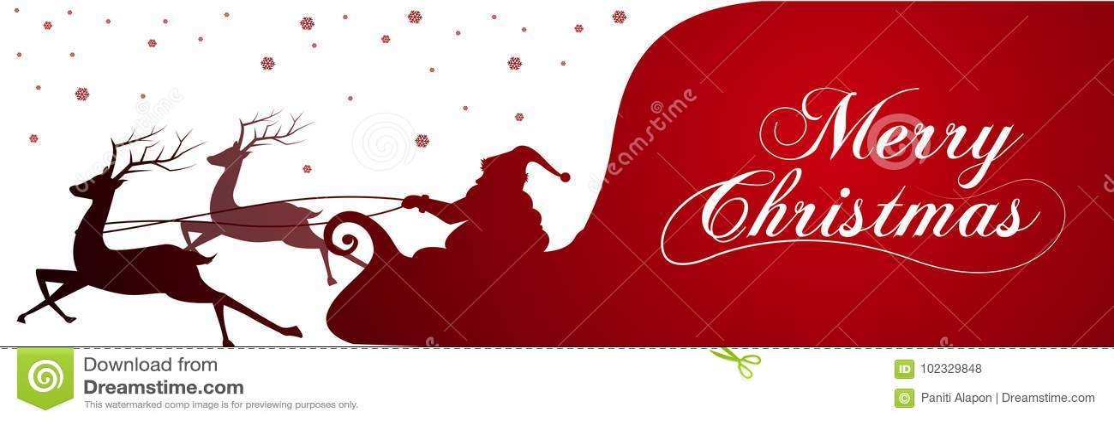 Sylwetka z Święty Mikołaj pełno i torbą prezenty na zimy tle Kreskówki scena literowanie Wesoło boże narodzenia