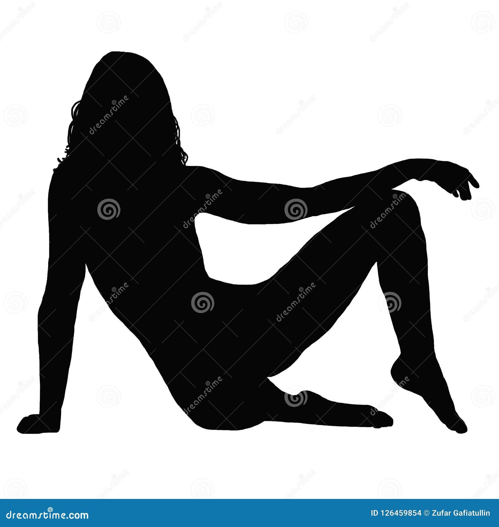 Sylwetki kobieta behind