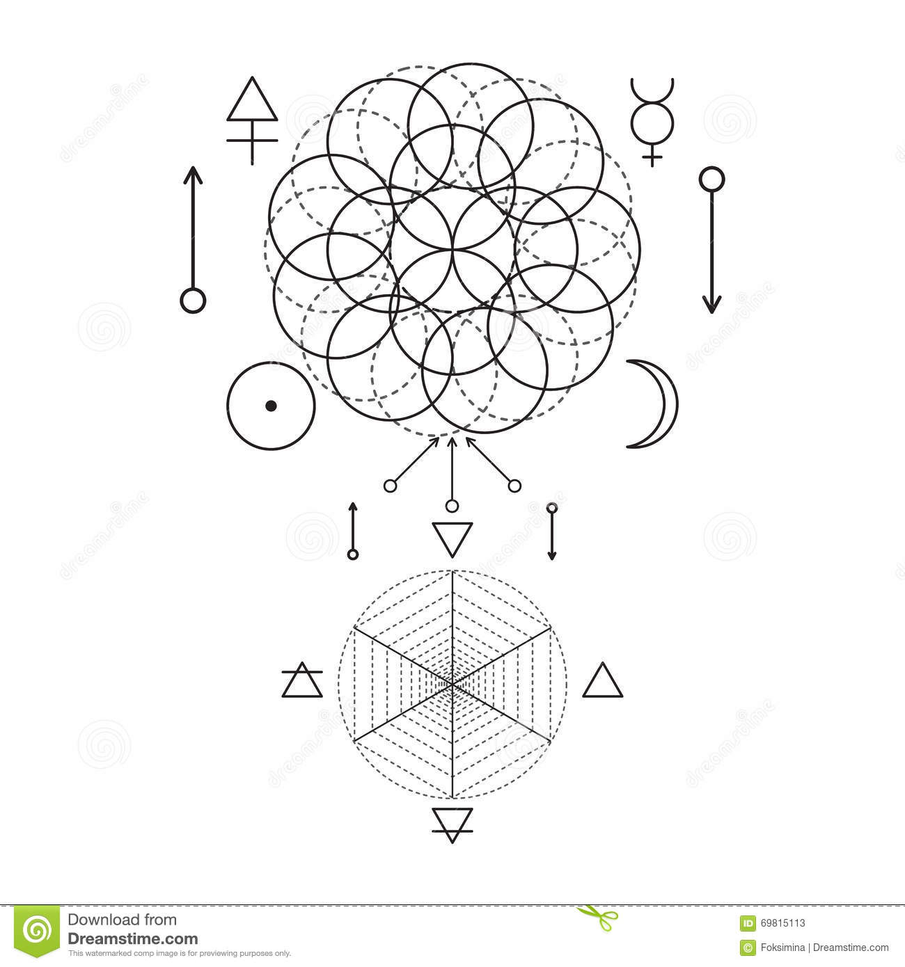 Symbol of alchemy and sacred geometry three primes spirit soul symbol of alchemy and sacred geometry three primes spirit soul body and 4 basic elements earth water air fire buycottarizona