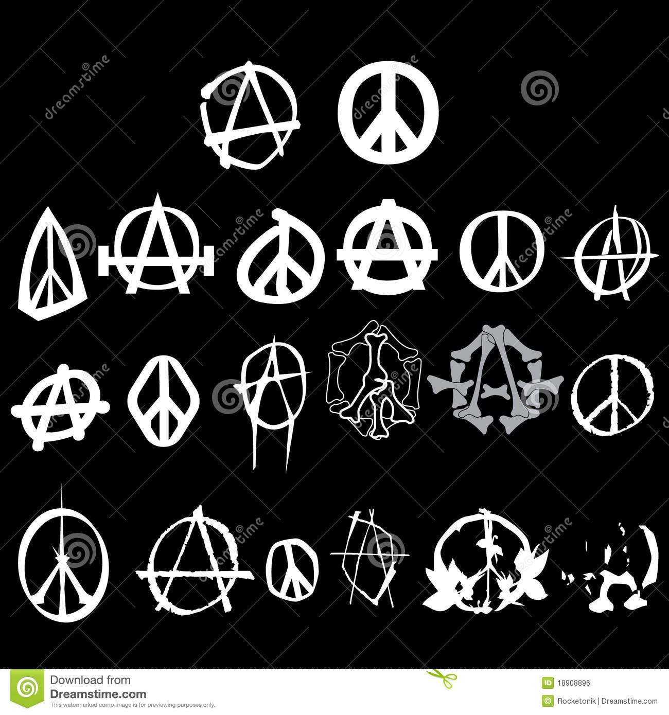 Symbol anarchy peace logo isolated vector stock vector symbol anarchy peace logo pack isolated vector royalty free stock image biocorpaavc Image collections