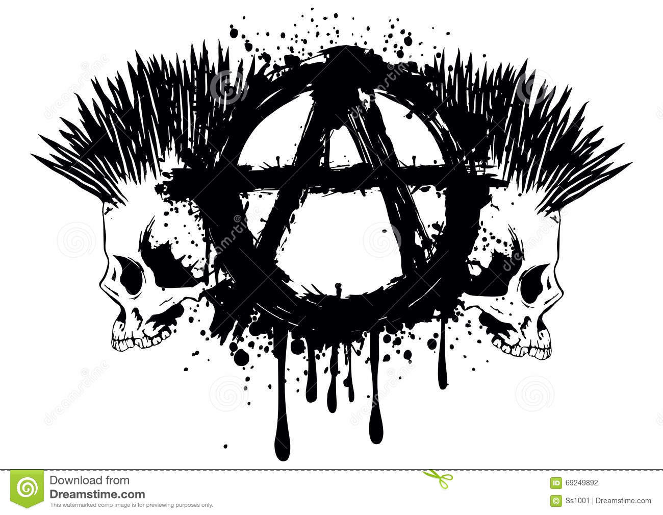Symbol anarchy and two skulls stock vector illustration of death symbol anarchy and two skulls buycottarizona