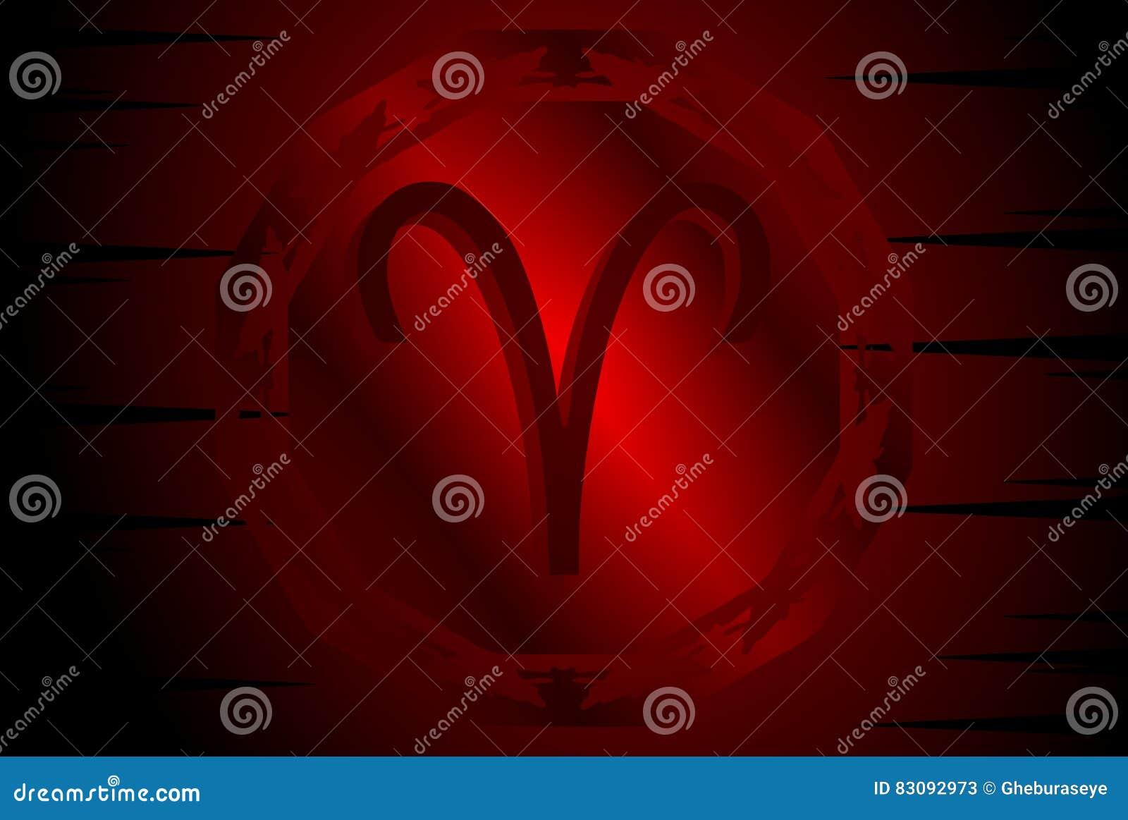 Symbol Of Aries Sign On Background Stock Illustration Illustration
